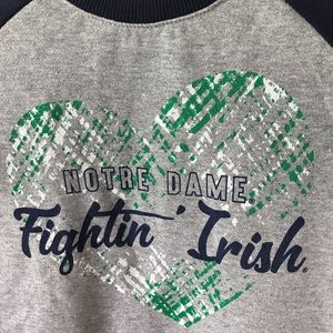 Colosseum Notre Dame Girls Med 7-8 Long Sleeve Top